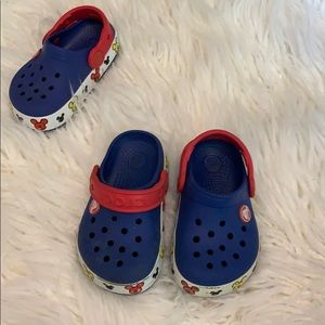 Mickey Mouse light up crocs